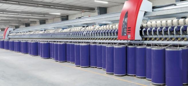 Fig (4): OE spinning frame from Schlafhorst Saurer http://schlafhorst.saurer.com/en/products/rotor-spinning/