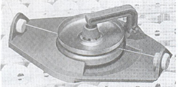 Figure (10): Yarn disc tensioner, Handbook of Weaving, 2001.