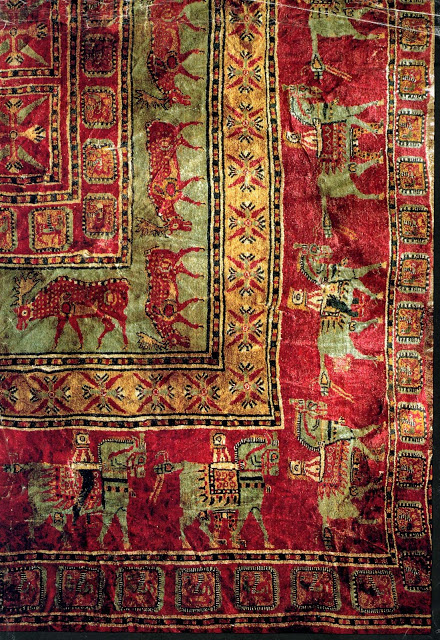 Figure (2): A Pazyryk Carpet close up